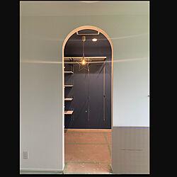 ウォークインクローゼット入り口/ウォークインクローゼット/北欧/塗り壁/寝室...などのインテリア実例 - 2021-07-09 10:06:24