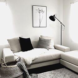 部屋全体/ポスター/IKEA/シーグラスバスケット/ソファ...などのインテリア実例 - 2016-06-25 01:24:32