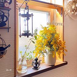 砂時計/小窓棚DIY/NO GREEN NO LIFE/みなさまに感謝/みんな大好き♡...などのインテリア実例 - 2021-03-11 09:28:54