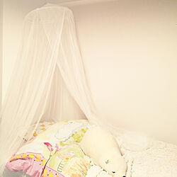 ベッド周り/天蓋のある部屋/天蓋ベッド/天蓋/ホワイトインテリア...などのインテリア実例 - 2018-04-01 21:39:32