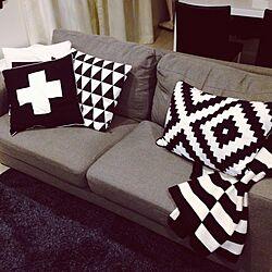 部屋全体/白黒/モノトーン/IKEA/男前...などのインテリア実例 - 2014-10-11 00:09:15