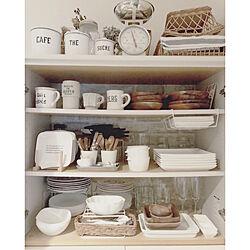キッチン/natural kitchen &/100均/白い器/ガラスが好き...などのインテリア実例 - 2019-02-08 17:25:42