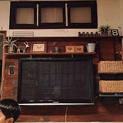 壁/天井/壁掛けテレビ/しゃれとんしゃあ会/板壁/関西好きやねん会...などのインテリア実例 - 2015-12-03 18:34:21