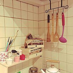 キッチン/入居後/セリア/DIY/雑貨...などのインテリア実例 - 2017-04-06 18:07:42