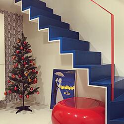 クリスマスツリー/トリコロールカラー/階段/壁紙/クロス...などのインテリア実例 - 2019-11-08 18:39:45