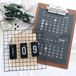 カレンダー2020/クリップボード/PUEBCO/白黒雑貨/シンプルインテリア...などのインテリア実例 - 2019-11-10 09:28:50