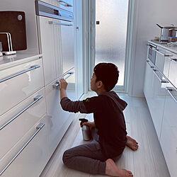 ピカピカ/つるつる/収納扉/大掃除/キッチンのインテリア実例 - 2021-01-05 00:27:52