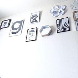 壁/天井/ウォールデコ/掛時計/フライングタイガー/ウォールフラワー...などのインテリア実例 - 2016-04-13 03:23:16
