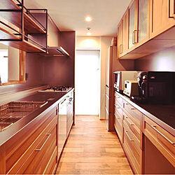 キッチン/ミーレ 食洗機/ステンレストップのキッチン/ステンレスと木/つり戸棚...などのインテリア実例 - 2018-12-21 08:30:25