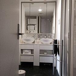 バス/トイレ/家族の反応は如何に⁈/洗面台/ビニールクロスのインテリア実例 - 2015-08-24 17:32:20