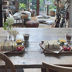 おうち時間を楽しむ/おうちカフェ/おうち時間/お昼ごはん/アーコールチェア...などのインテリア実例 - 2021-07-01 21:47:16