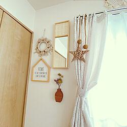 ミラー壁掛け/寝室の壁/寝室インテリア/寝室/北欧モダン...などのインテリア実例 - 2021-03-10 16:43:19