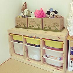 おもちゃ収納/キッズスペース/IKEAの棚/イケア75/シンプルな暮らし...などのインテリア実例 - 2018-08-24 12:44:24