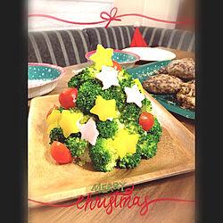 キッチン/お家ごはん/子供の手作り/サラダ☆/クリスマスイブですね☆*:.。. ...などのインテリア実例 - 2018-12-24 20:53:34