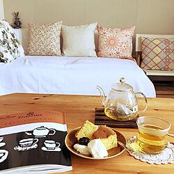今日のおやつ/ジャスミン茶/ティータイム/ティーポット/手作りおやつ...などのインテリア実例 - 2020-05-05 23:02:52