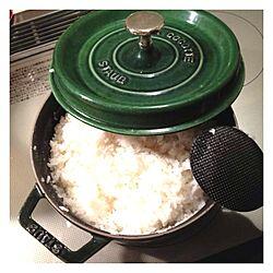 キッチン/バジルグリーン/つやつや/もぐもぐ/STAUB...などのインテリア実例 - 2013-09-09 19:53:26