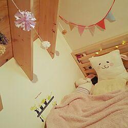 ベッド周り/三角屋根/IKEAベッドのインテリア実例 - 2017-04-09 17:20:13