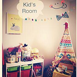 部屋全体/賃貸/IKEA/子供部屋/ティピーテント...などのインテリア実例 - 2015-01-30 23:09:43