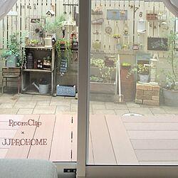 部屋全体/木箱/サリュ!ポンプ/さびさびミルク缶/グリーンのある暮らし...などのインテリア実例 - 2016-07-25 10:05:49