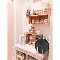 キャニスター/ディッシュスタンド/ティファール/保存瓶/壁に付けられる家具...などのインテリア実例 - 2020-03-26 21:21:07
