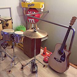 パーカッションと共に。/ギターのある部屋/ギターのインテリア実例 - 2015-08-19 20:58:24