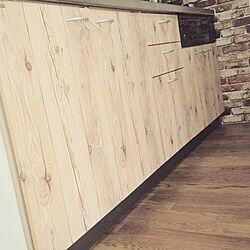 キッチン/シンプル/ブルックリン風/男前/キッチン収納棚...などのインテリア実例 - 2015-10-25 10:57:15