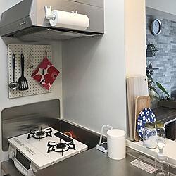 キッチン/マリメッコ/シンプルが好き/賃貸DIY/賃貸でも楽しく♪...などのインテリア実例 - 2018-09-07 11:07:34