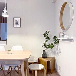 サイドテーブル/花台/重なるテーブルベンチ/無印良品/シンプルインテリア...などのインテリア実例 - 2020-08-04 16:14:09