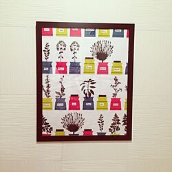 ベッド周り/IKEA/北欧ファブリック/額縁のインテリア実例 - 2013-10-08 18:22:11