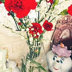 玄関インテリア/美女と野獣のティーセット/花のある暮らし/玄関/入り口のインテリア実例 - 2020-05-15 19:41:26
