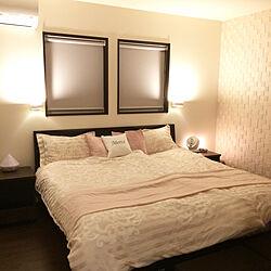 ベッド周り/ナノイー/フリーカバーでベッドスプレッド代わり/間接照明/ロールスクリーン...などのインテリア実例 - 2017-11-20 22:05:41