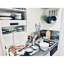 狭いキッチン/1K/IKEA/一人暮らしインテリア/賃貸...などのインテリア実例 - 2020-07-09 21:43:27