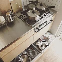 キッチン/PLUS do/プラスドゥ/SORI YANAGI/引き出しの中...などのインテリア実例 - 2017-08-17 02:25:47