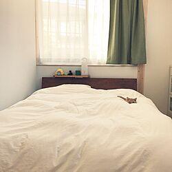 ベッド周り/ベッド/無印良品の家/無印良品/LED持ち運びできるあかり...などのインテリア実例 - 2016-11-12 22:43:06