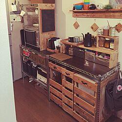 キッチン/生活感/ゴミ箱/なんとかしたい場所/DIY...などのインテリア実例 - 2016-01-17 21:04:40