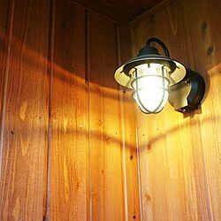 玄関/入り口/照明/ポーチ灯/杉板張り/LEDのインテリア実例 - 2017-07-08 21:11:39