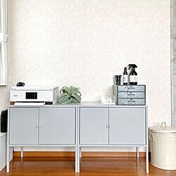 モノトーン/キャビネット/IKEA/プリンター棚/部屋全体...などのインテリア実例 - 2020-09-12 12:15:48