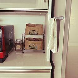 食器棚/ほうじ茶/麻袋/セリア/アルミラック...などのインテリア実例 - 2020-04-20 14:08:43