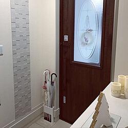 玄関/入り口/エコカラットを自分達で貼ろう部/エコカラットのインテリア実例 - 2018-12-07 07:32:36