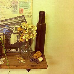 棚/リメイク瓶/雑貨/セリア/ドライフラワーのインテリア実例 - 2012-12-27 17:26:07