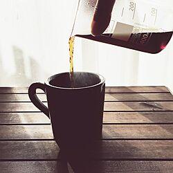 キッチン/ホットコーヒー/コーヒー/TGIビーカー/ビーカーのインテリア実例 - 2015-06-19 22:44:10