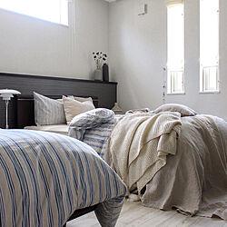 ブラウンインテリア/ベッド周り/ナチュラルインテリア/テーブルランプ/寝室...などのインテリア実例 - 2021-06-04 10:59:41