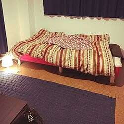 ベッド周り/IKEA/照明/ニトリ/一人暮らし...などのインテリア実例 - 2017-02-03 23:52:26