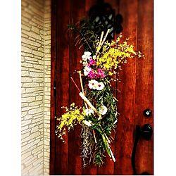 玄関/入り口/エアプランツ♡/お花♡/壁面ディスプレイ♪/生花アレンジ...などのインテリア実例 - 2017-02-11 19:38:40