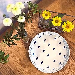 結婚祝い/いただきもの/庭の花を生ける/小菊/食卓に花を♡...などのインテリア実例 - 2020-07-03 08:03:26