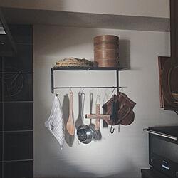 キッチン棚/キッチン雑貨/キッチン収納/鍋つかみ/BALMUDA...などのインテリア実例 - 2020-10-06 20:51:20