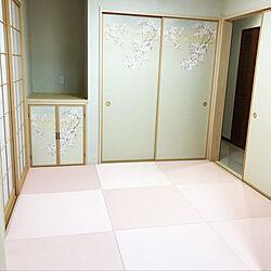 部屋全体/和室4.5畳/和室/ピンク/畳のインテリア実例 - 2018-12-05 23:15:43