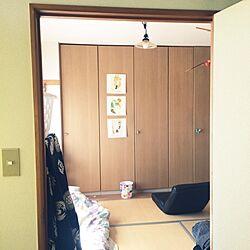 部屋全体/隣の部屋から/エゴンシーレ/畳/和室...などのインテリア実例 - 2014-08-19 19:25:59