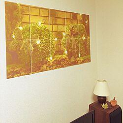 壁/天井/写真/ニトリ照明/ブロックポスター/ミニチュア雑貨...などのインテリア実例 - 2015-06-26 23:32:55