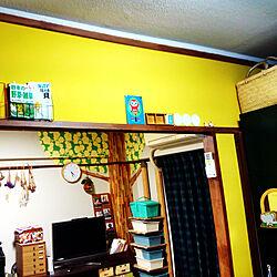 キッチン/イエロー/イエローインテリア/黄色♡/壁紙屋本舗...などのインテリア実例 - 2017-10-08 05:33:29